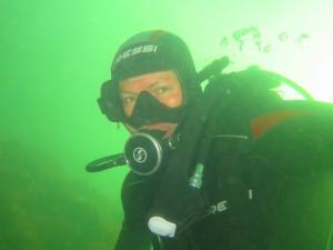 Hansjorg onderwater (met buddy/fotograaf Chris)