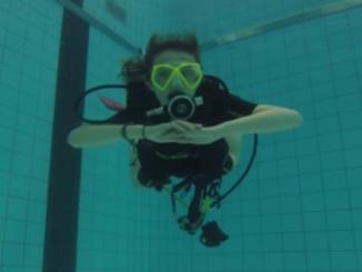 Poolskills hoover zwembadoefening stil hangen
