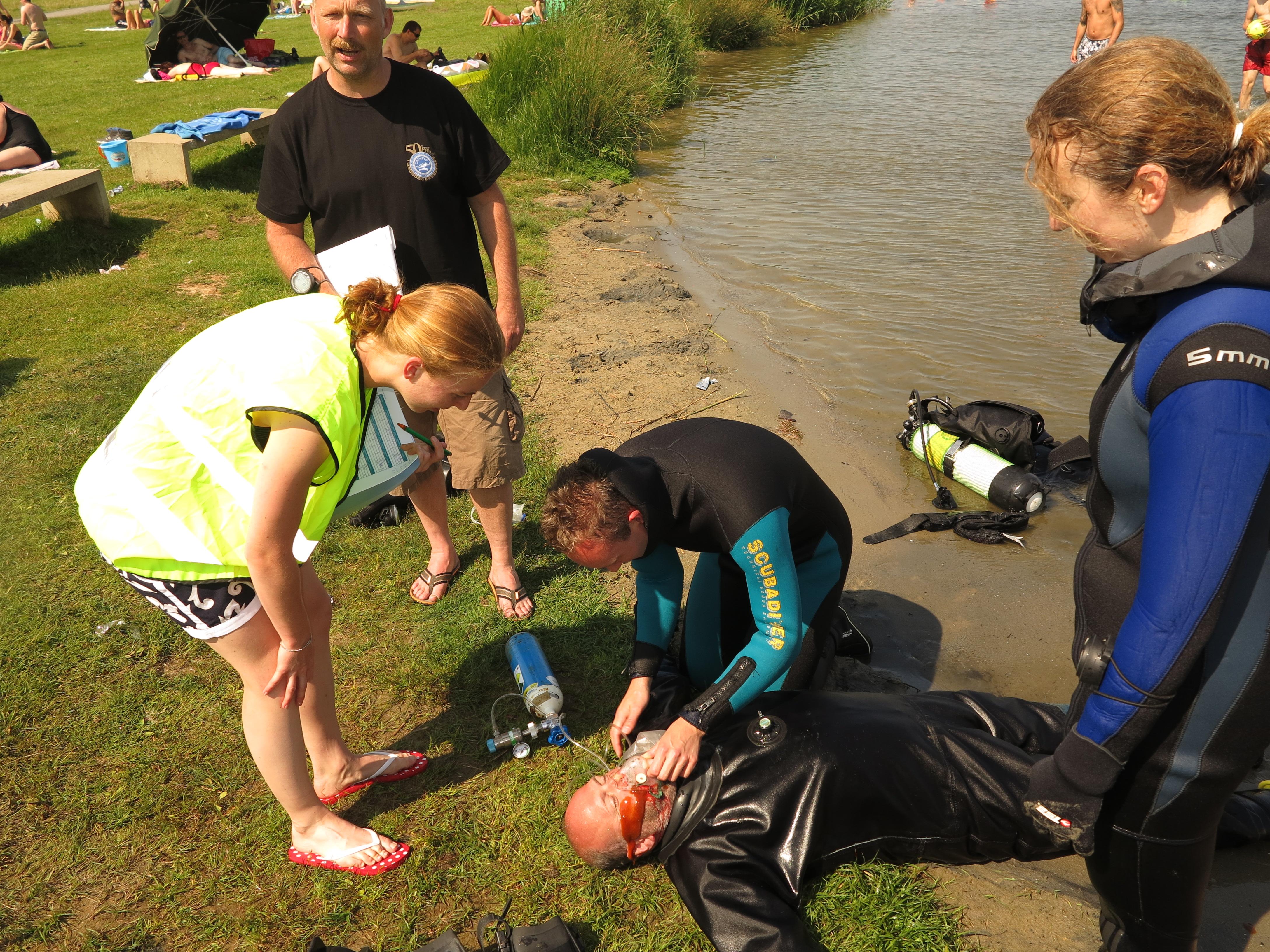 Eerste hulp bij ongevallen voor duikers
