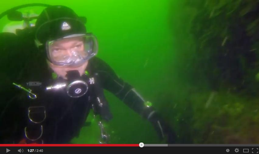 Video Michel eerste wrakduik op de Hondsbosch in de Noordzee